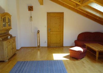 Wohnzimmer der Ferienwohnung Almrausch