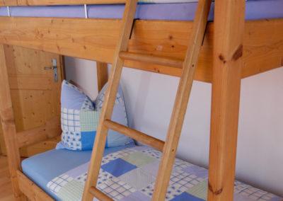 Stockbett in der Ferienwohnung Edelweiß