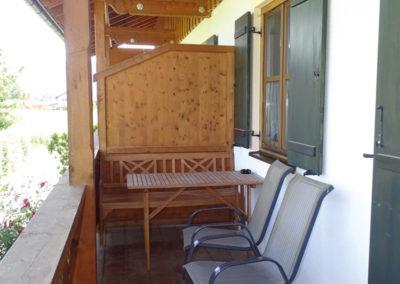 Balkon der Ferienwohnung Edelweiß
